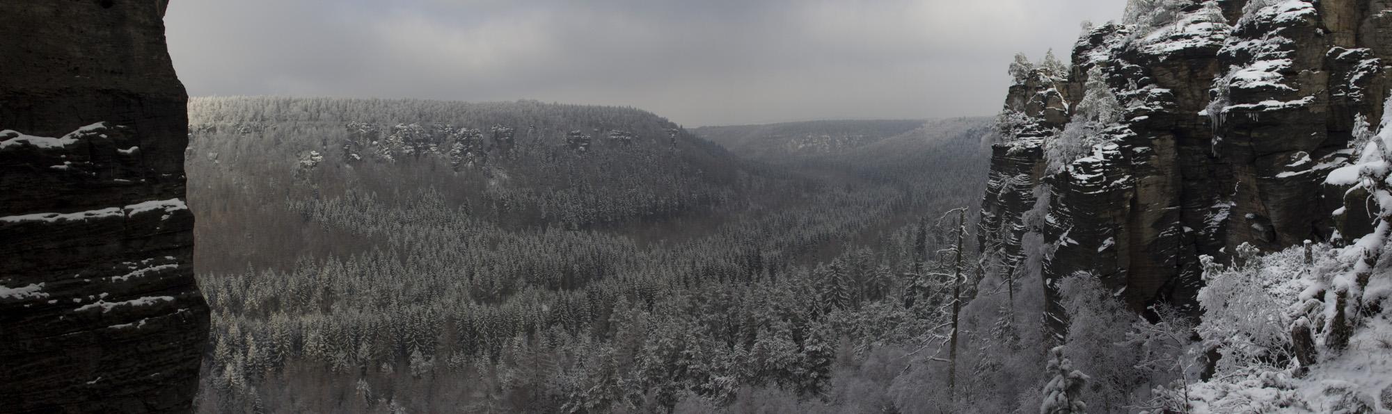 Bielatal im Winter