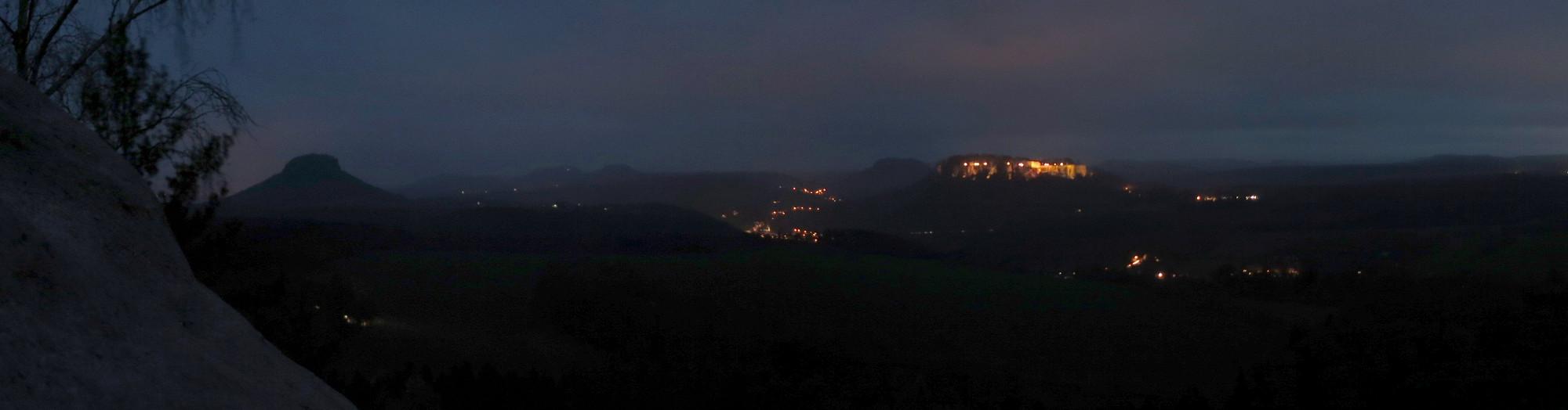 Festung Königstein im Dunklen